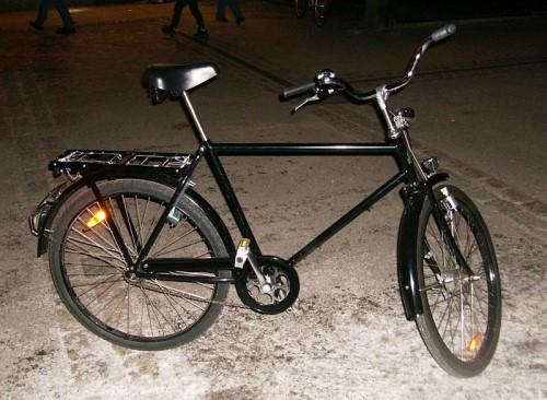 Городской велосипед с высокой (мужской) рамой