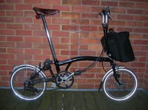 Складной велосипед в собранном виде