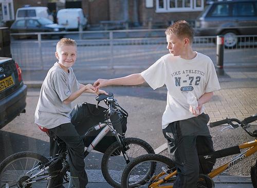Тинейджеры на велосипедах