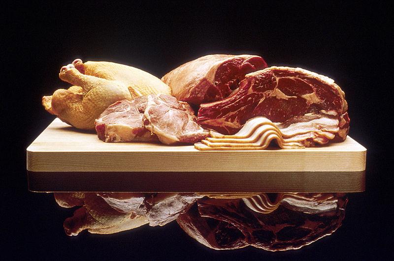 Различные виды свежего мяса