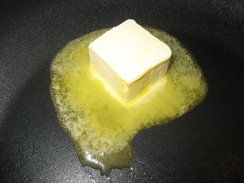 Растопленный маргарина