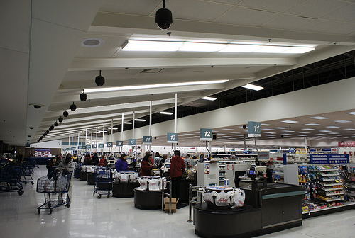 Торговый зал супермаркета