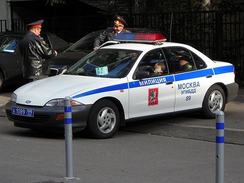 служебный автомобиль милиции